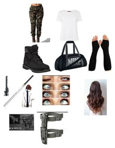 """Strike"" by skykittan360 on Polyvore featuring Timberland, MaxMara and NIKE"