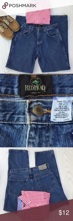 Red Head jeans Relaxed fit 5pocket, Denim, 32W32L, RedHead Relaxed Fit five-pocket Denim jeans for men, pre-owned in excellent condition. 32 waist and 32 length. RedHead Jeans Relaxed