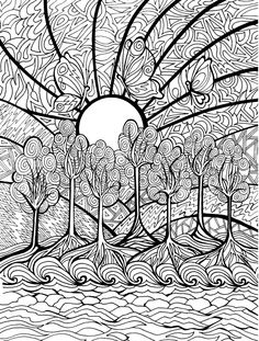 DreamScapes Coloring Book pages