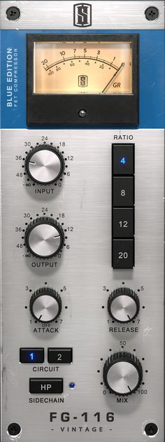 FG116 Vintage Slate Digital, Waves Audio, Digital Instruments, Home Studio Music, The Rev, Music Production, Studio Design, Circuits, Blue