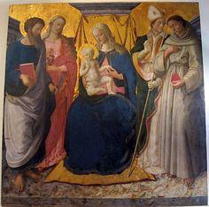 [Renaissance] Zanobi Machiavelli - Madonna in trono col bambino e santi - 1476-75 ca - Museo nazionale di Villa Guinigi, Lucca