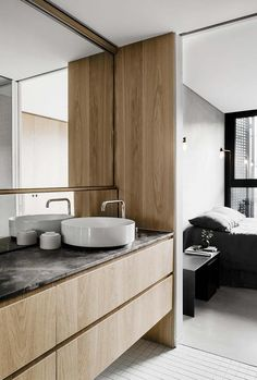 Gallery Of Campbell Street By Milieu Property Local Australian Design And Interiors Collingwood, Vic Image 34 Ideal Bathrooms, Contemporary Bathrooms, Modern Bathroom, Bathroom Ideas, Lavatory Design, Warehouse Apartment, Australian Homes, Bathroom Renovations, Small Apartments