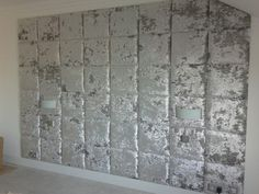 Ta da ! Feature Wall Silver Crushed Velvet Wall Tiles