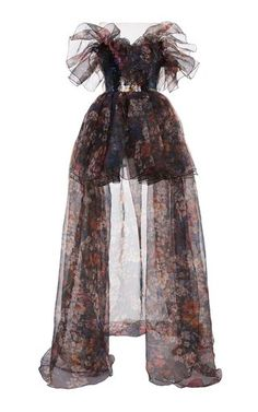 Floral Printed Organza Poufy Bustier Gown by Elie Saab Classy Outfits, Pretty Outfits, Pretty Dresses, Stylish Outfits, Beautiful Dresses, Kpop Fashion Outfits, Stage Outfits, Mode Outfits, Fashion Dresses