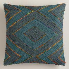 One of my favorite discoveries at WorldMarket.com: Blue Diamond Throw Pillow