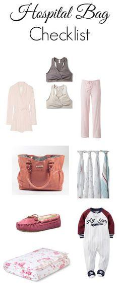 Hospital Bag checklist!