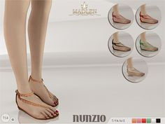 The Sims Resource: Madlen Nunzio Sandals by MJ95 • Sims 4 Downloads