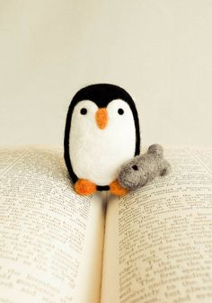 Percival the Penguin Wooly handmadebybrynne.etsy.com