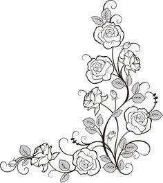 画像サンプル-バラの装飾素材・コーナー用: