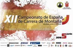 Éste es el cartel oficial del Campeonato de España de carrera de montaña que se disputará en Alhama de Murcia el 5 de junio.