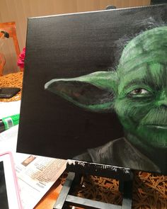 Yoda painting- kelseymast.com