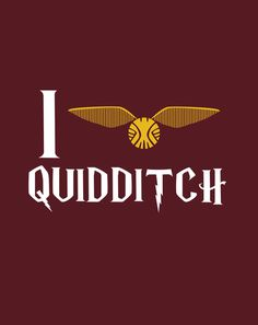 "I love Quidditch by Danielle Furman  #Art Print / MINI (8"" x 10"") $14.56"