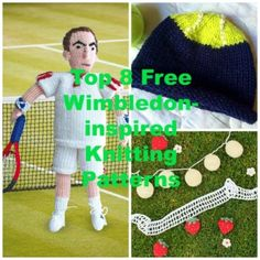 Top 8 Free Wimbledon-inspired Patterns - find them all on the Let's Knit blog!
