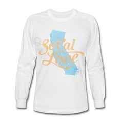 SoCal Love celebrates everything SoCal or Southern California in this vintage, worn and faded design. Featuring the State of California behind gorgeous script SoCal Love and stamped with the SoCal Brand logo, this will become your favorite t-shirt in no time. Show your love for Southern California and the SoCal lifestyle of beaches, surfing and sunshine.