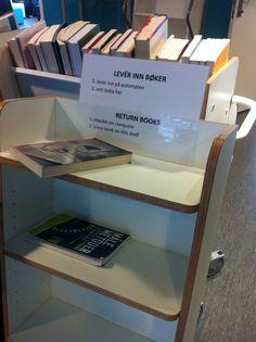 Oslo and Akershus University College of Applied Sciences Library (HiOA): carro de libros devueltos (18/05/2015)