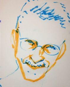 いいね!5件、コメント1件 ― @1mindrawのInstagramアカウント: 「#1mindraw  #keithjarrett  #キースジャレット  #19450508 #誕生日 #birthday  #portrait  #筆ペン画」