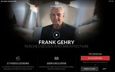(Masterclass) FRANK GEHRY TEACHES DESIGN AND ARCHITECTURE