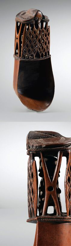 Africa   Spoon / ladle from the Fang people of Gabon   Wood.  H: 19cms