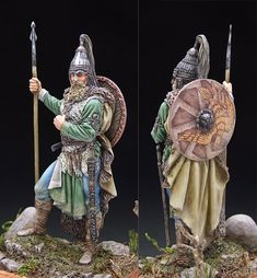Dark Ages, Barbarian, Tactical Gear, Diorama, Dream Catcher, Miniatures, Clay, Costumes, Christmas Ornaments
