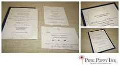 Scanned the bride's lace from her veil and used the image on her custom wedding invitation.