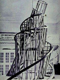 Model for the 3rd International Tower, (1919-1920)  Vladimir Tatlin