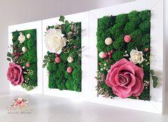 Moss Wall Art, Moss Art, Garden Wall Art, Diy Garden Decor, Floral Wall Art, Arte Floral, Moss Decor, Vertical Garden Design, Unique Wall Art