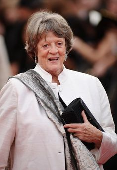 Pin for Later: Stars Who Haven't Done the Ice Bucket Challenge (Yet) Dame Maggie Smith  Challenged by: Emma Stone. Status: No ice.
