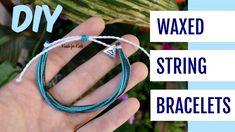 DIY Waterproof Waxed String Friendship Bracelets Inspired by Pura Vida Bracelets… – Diy Bracelets İdeas. Diy Bracelets With String, String Friendship Bracelets, Friendship Bracelets Tutorial, Diy Bracelets Easy, Thread Bracelets, Bracelet Tutorial, Ankle Bracelets, Macrame Tutorial, Loom Bracelets