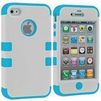 White / Baby Blue Tuff Hard Soft Case Skin Cover