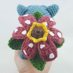 Venusaur Pokemon crochet pattern
