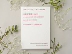 Faire-part de mariage chic gaufrage #flower #engagement #amour #love #happiness #bonheur #mariée #marié #married #wedding #marriage #mariage #fairepartmariage #fairepart