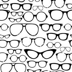 Retro Seamless Spectacles Stock Image