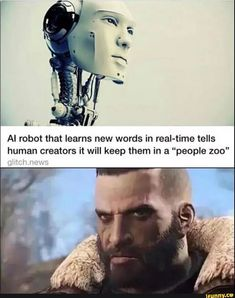 """AI robot that learns new words in real-time tells human creators it will keep them in a """"people zoo"""" - iFunny :) Fallout Funny, Fallout 2, Fallout New Vegas, Fallout Comics, Fallout Facts, Fallout Posters, Logic Memes, Funny Memes, Nerd Funny"""