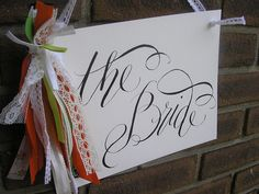 vintage bride and groom signs | Flickr - Photo Sharing!