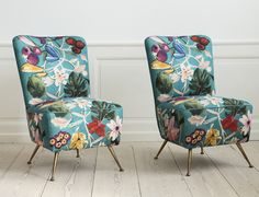 Lounge Chairs, 1950s; evidently my new mania is focused on brass accents