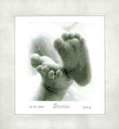 Baby Feet - Cross Stitch Kit by Vervaco