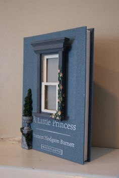 Elegant Princess Fairy Window on an Upcycled Book by TheStoryStop, $24.00.  I'm doing these.
