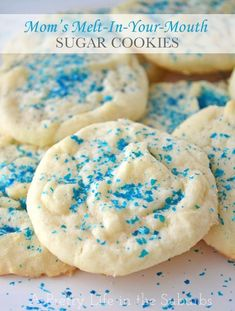 These are very similar to a recipe I've used for a long time... they are so delicious!!!  Mom's Melt-In-Your-Mouth Sugar Cookies... Cupcakes, Cupcake Cookies, Brownie Cookies, Cookie Desserts, Dessert Recipes, Pie Recipes, Dessert Ideas, Cereal Cookies, Brownie Bites