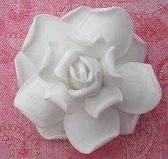 Gardenia Hair Clip White Flower Clip Bridal Hair by Girlflowers, $7.49