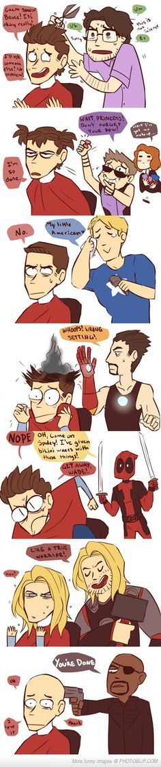 When The Avengers Give Spidey A Haircut