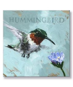 This Hummingbird Giclee Canvas is perfect! #zulilyfinds