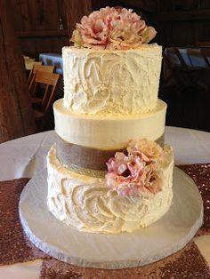 Gold Rustic Wedding cake