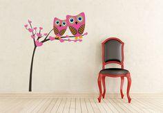 Wall-Stickers - Owls Tree