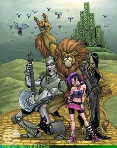 GarthFT's Wizard of Oz-Fest. Dorothy's got some kick-ass hair and Tin Man looks like a member of Gwar!
