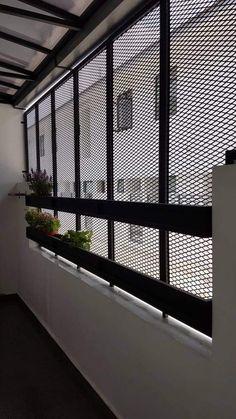 Window Grill Design Modern, Balcony Grill Design, Grill Door Design, Balcony Railing Design, Outdoor Kitchen Design, Window Design, Roof Balcony, Home Room Design, Small House Design