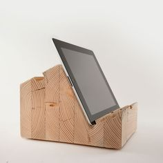 BLÖCT - WOOD TABLET STANDS....more things I need to beg my brother-in-law to craft!
