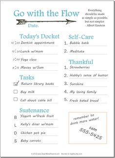 Free Daily Planner Printable Page