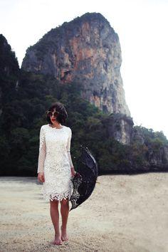 white lace dress - Parlor - anamorodan com - fashion - lady like - modern countess