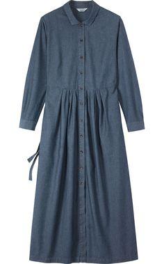 CHAMBRAY SHIRT DRESS £135. TOAST Aug / 14