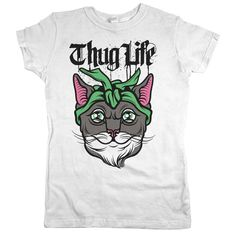 """I didn't choose the thug life, the thug life chose me."" Our 'Thug Life' cat tee is perfect for any cat lover!"